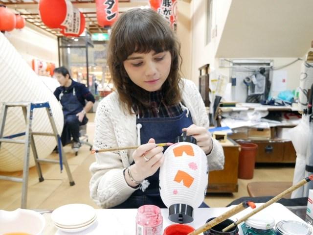 J'ai essayé un atelier de peinture sur lanterne japonaise