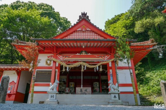 Le sanctuaire Ukiha Inari, ville d'Ukiha, préfecture de Fukuoka
