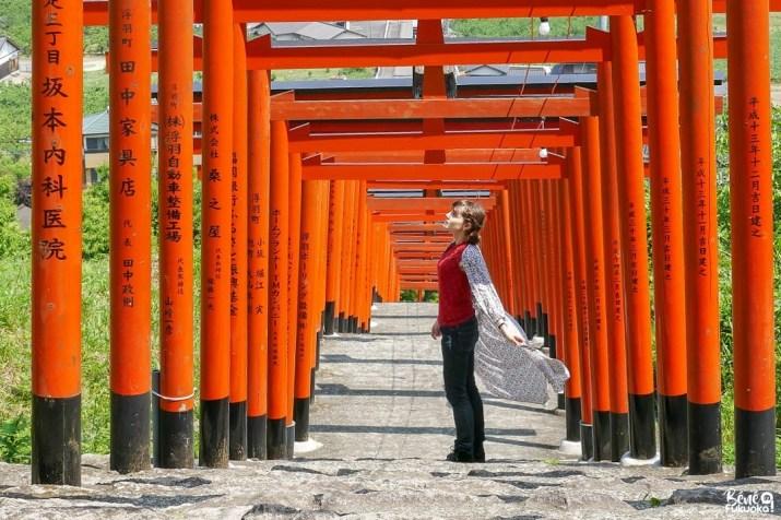 Visiter Ukiha, son sanctuaire Inari et son allée de toriis, ville d'Ukiha, préfecture de Fukuoka