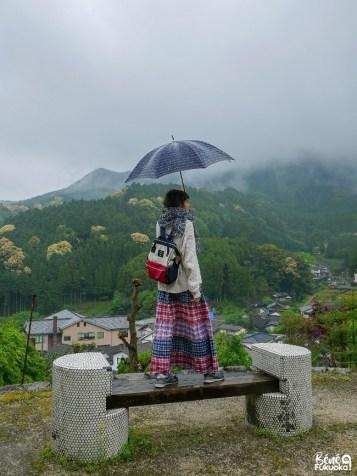 Vue depuis l'observatoire d'Ôkawachiyama, Saga