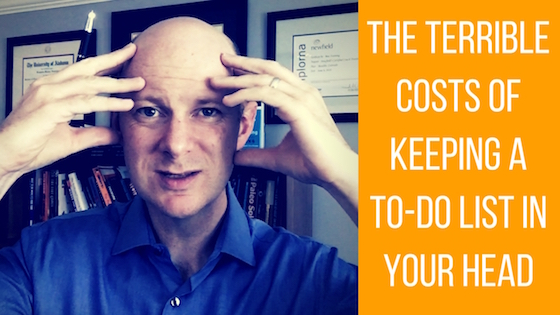 The Terrible Cost of Keeping Your To-Do Checklist in Your Head
