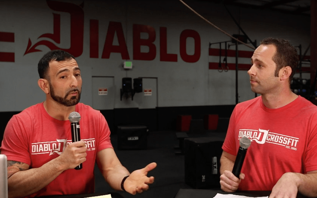 Representatives from Diablo CrossFit discuss the third workout of the 2019 CrossFit Open (19.3)