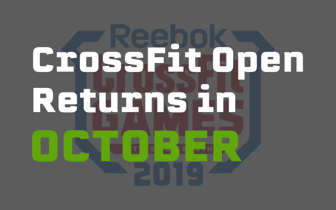 The CrossFit Open returns in October this year as it shifts to a new month