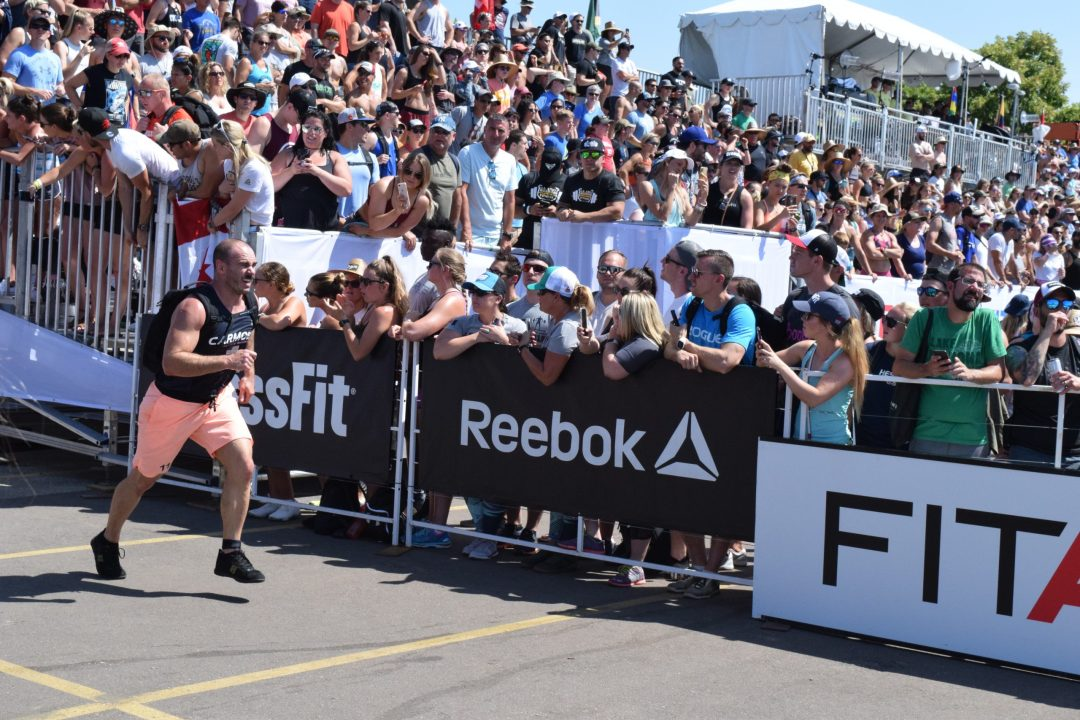 Eric Carmody of CrossFit Invictus completes the Ruck Run event at the 2019 CrossFit Games