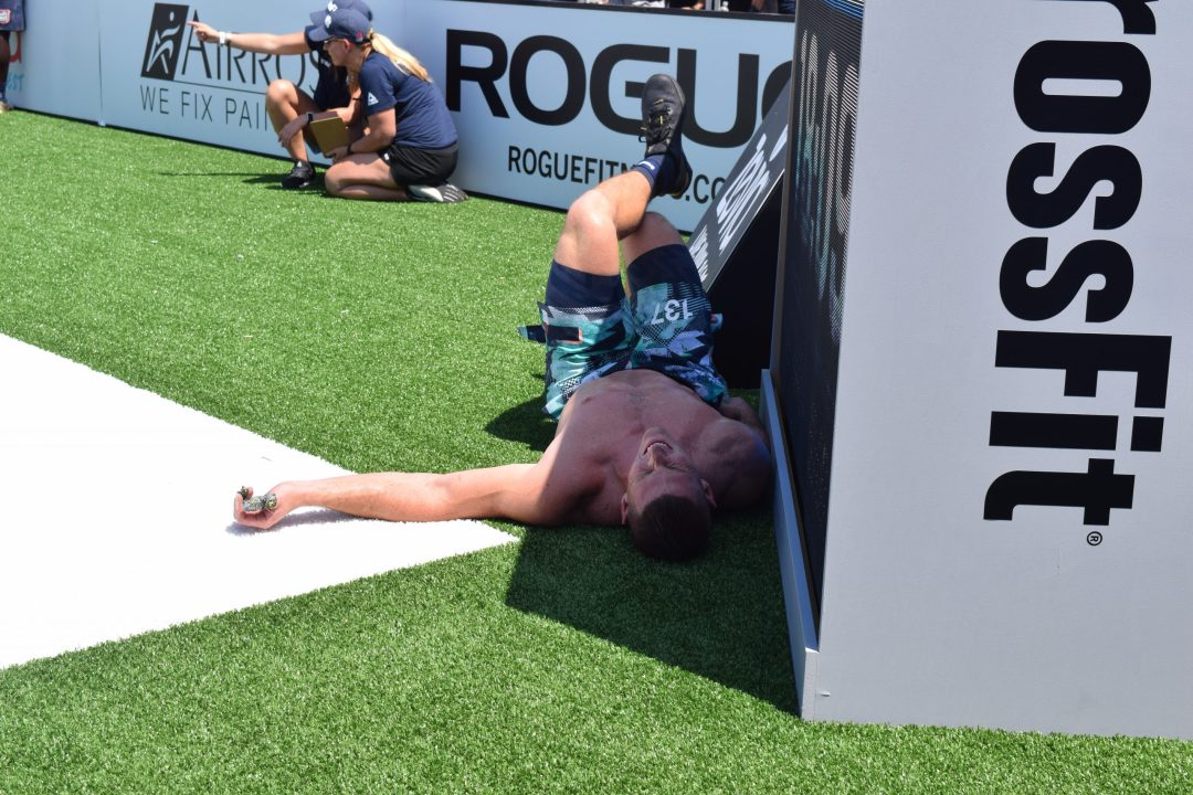 Jason Smith finds haven from the heat at the 2019 CrossFit Games