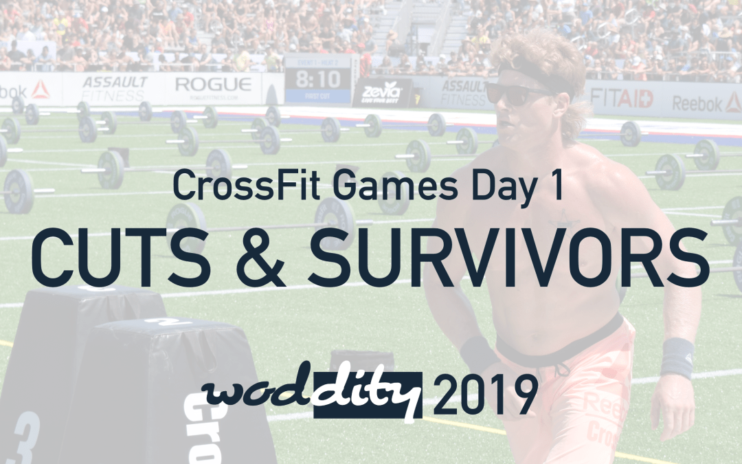 Surprising cuts and survivors after the first day of the 2019 Reebok CrossFit Games, including Hunter McIntyre and Ben Smith