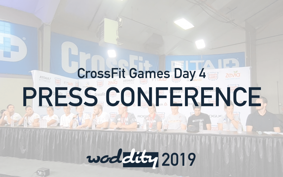 2019 CrossFit Games Champions Final Press Conference