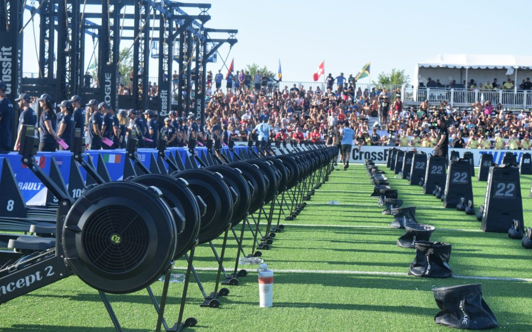 The field set up for the second event of the 2019 CrossFit Games.