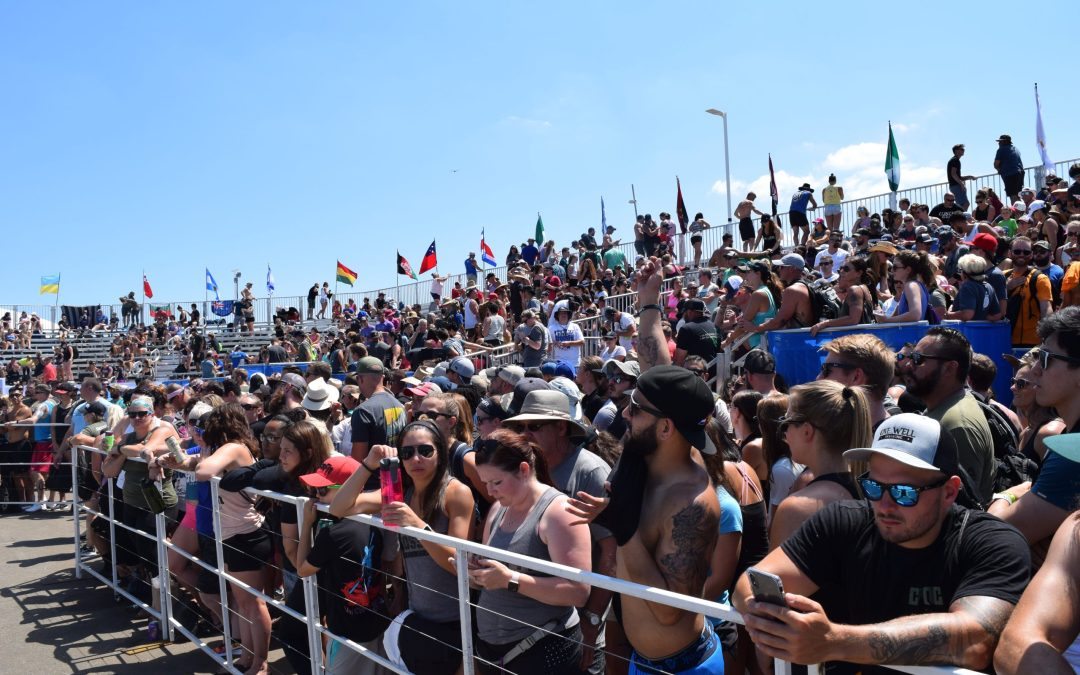 Fans watch the 2019 CrossFit Games.