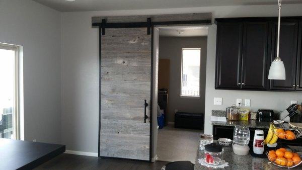 Barn Door Made from Reclaimed Barn Wood in Steel Frame | Benham ...