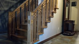 Craftsman Style Staircase and handrail
