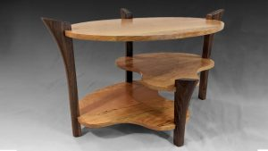 Elliptical 3 Tier Coffee Table