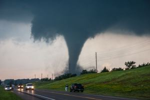 Ben in front of the Chickasha, OK Tornado May 24, 2011