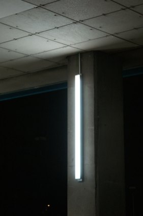 A number of luminaires were installed in the car park beneath the building. These changed colour with the facade luminaires.