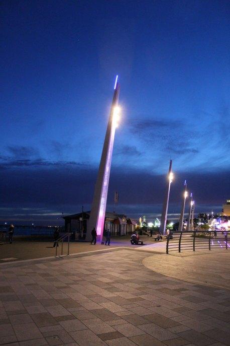 Southend lighting columns, view down the promenade.