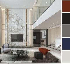 Color arrangement in layout