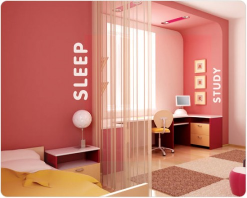 Interior design of teens room 9