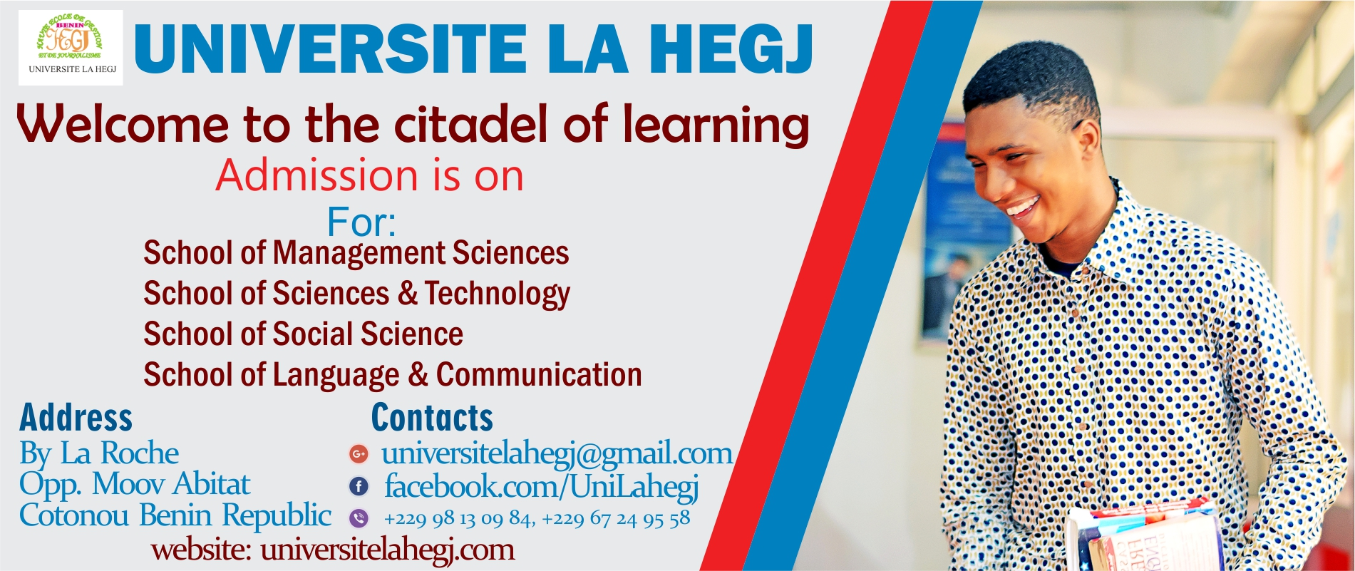 Universite la hegj cotonou benin republic