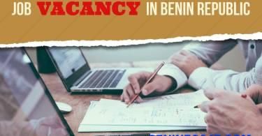JOB VACANCY IN BENIN REPUBLIC