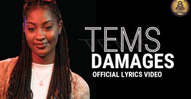 Tems - Damages (Official Lyrics Video)