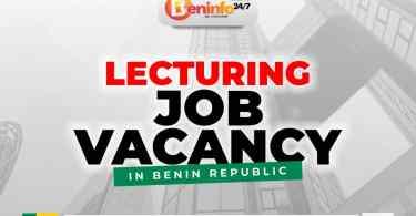 LECTURING JOB VACANCIES IN BENIN REPUBLIC
