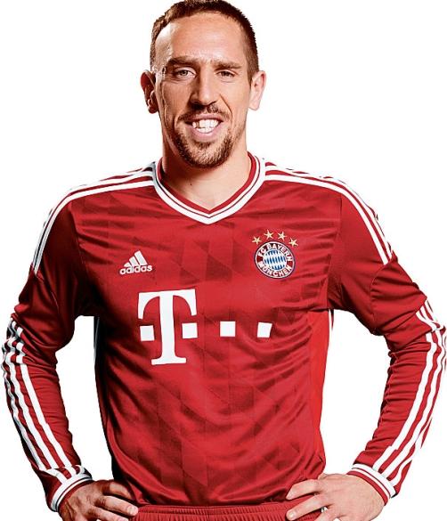 bayern munich nouveau maillot Ribery 2013-2014