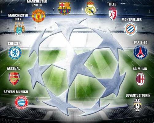 Résultats UEFA Champions league 2012-2013: 2eme journée