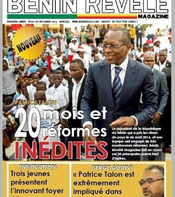 Photo of Bénin Révélé Magazine N°001 – Décembre 2017