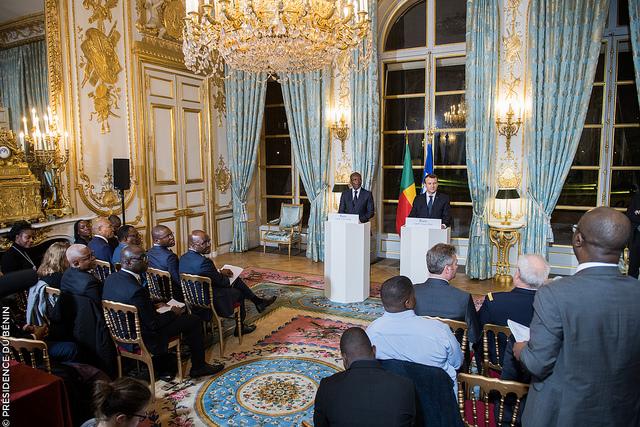 Visite de travail de S.E.M. Patrice Talon en France / Photo : PRÉSIDENCE DE LA RÉPUBLIQUE DU BÉNIN