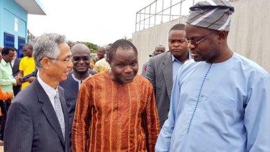 Photo of Samou Séïdou Adambi et Kiyofumi Konishi inaugurent une station de traitement d'eau potable à Dassa-Zoumé