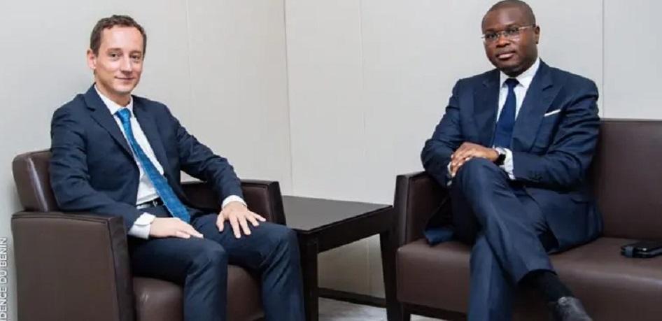 Chargé de mission du FMI, Luc Eyraud et le ministre