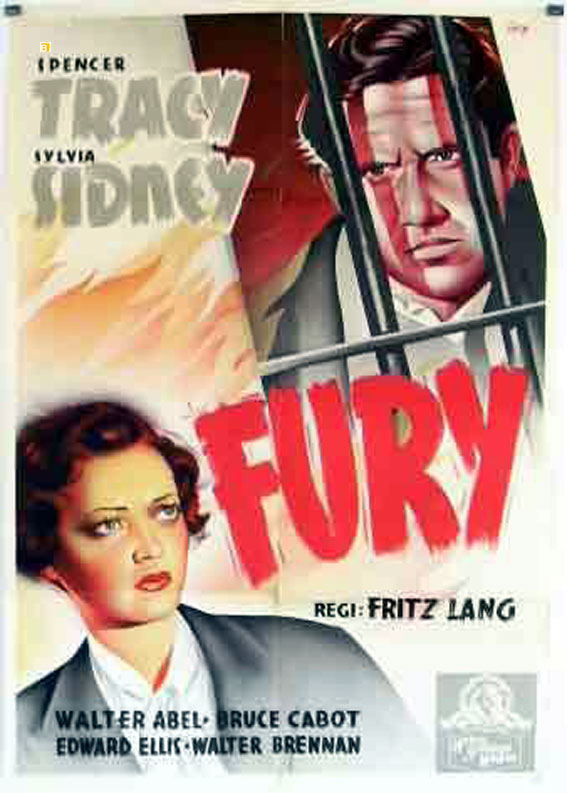 FRITZ LANG MOVIE POSTER FURY MOVIE POSTER