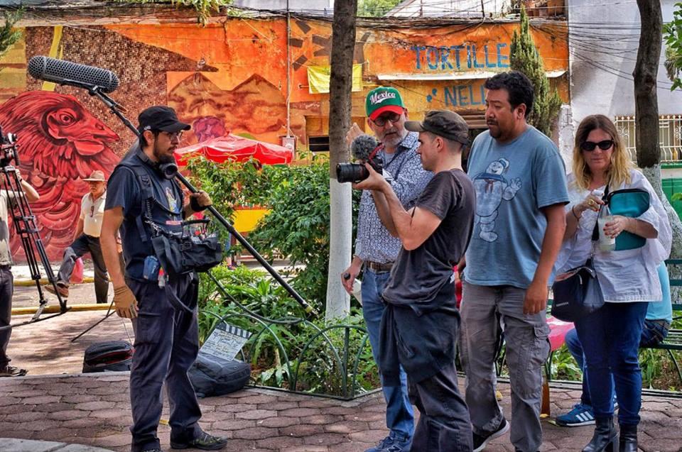 Rodaje del teaser en la plaza La Romita - México