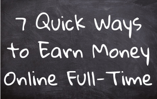 Quick Ways to Earn Money Online Full-Time