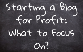 Starting a Blog for Profit