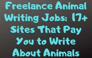 Freelance Animal Writing Jobs