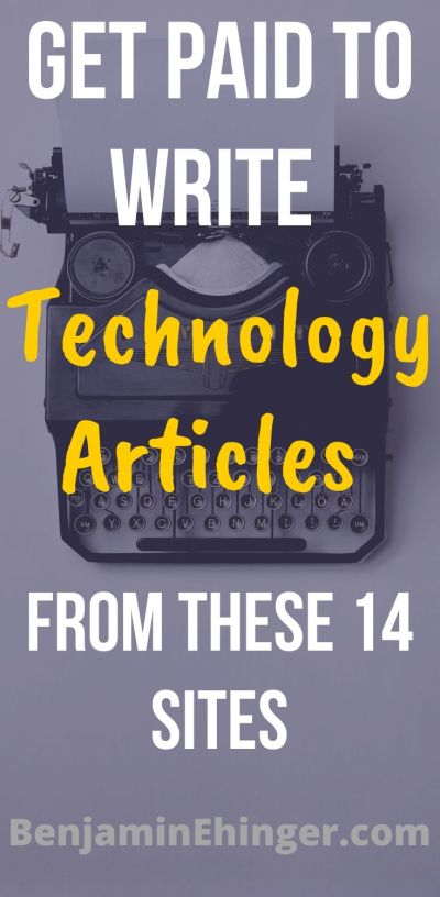 Get Paid to Write Technology Articles