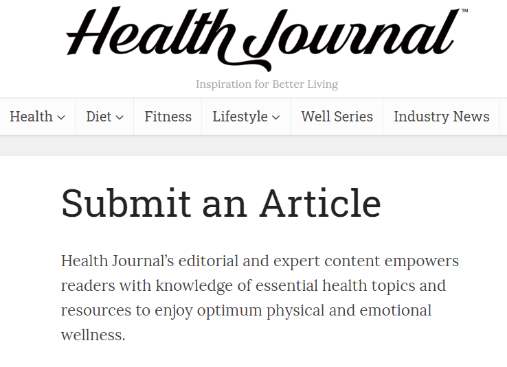 Write For Health Journal