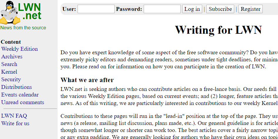 Write For LWN.net