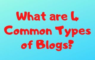 What are 4 Common Types of Blogs