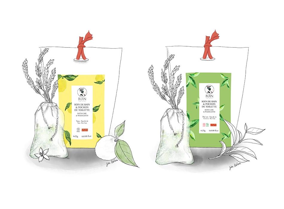 Packaging cosmétiques japonais BIJIN   Benjamin PIEGAY, graphiste à Lyon et dans les Monts du Lyonnais