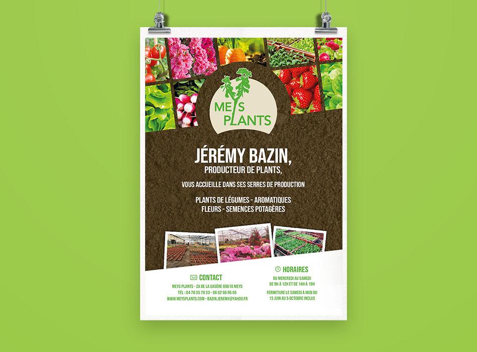 Affiche Meys Plants   Benjamin PIEGAY, graphiste à Lyon et dans les Monts du Lyonnais