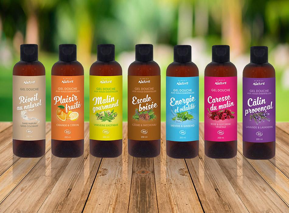 Packaging cosmétiques Direct Nature | Benjamin PIEGAY, graphiste à Lyon et dans les Monts du Lyonnais