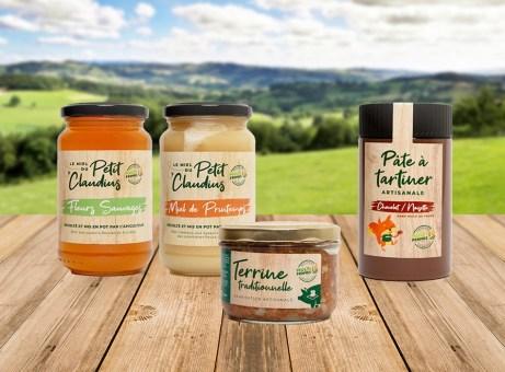 Etiquettes miel terrine pate à tartiner MULTI-FERMES