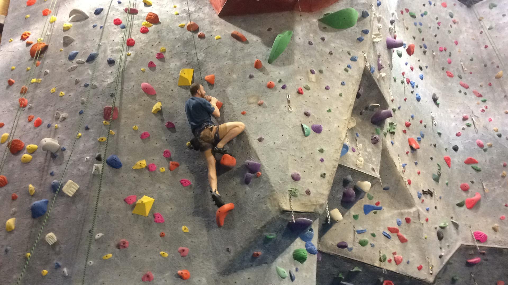 indoor top roping rock climbing