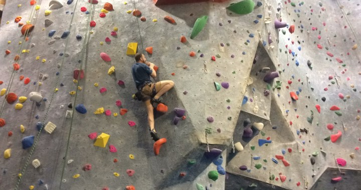 indoor top roping rock climbing