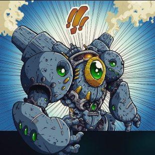 Manga Art- old robot