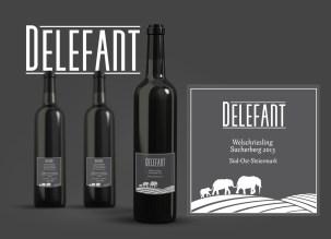 Wine Label and Logo Design (Mockup)