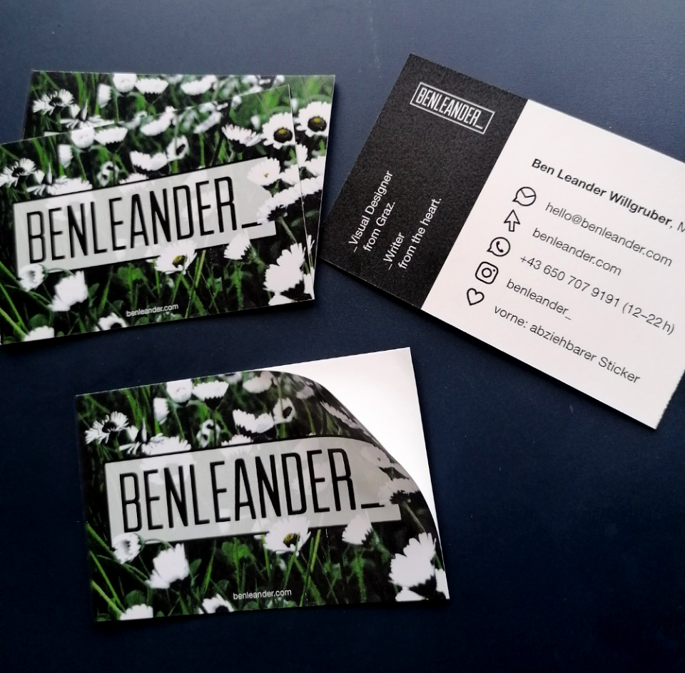 Personal Business Cards/Sticker
