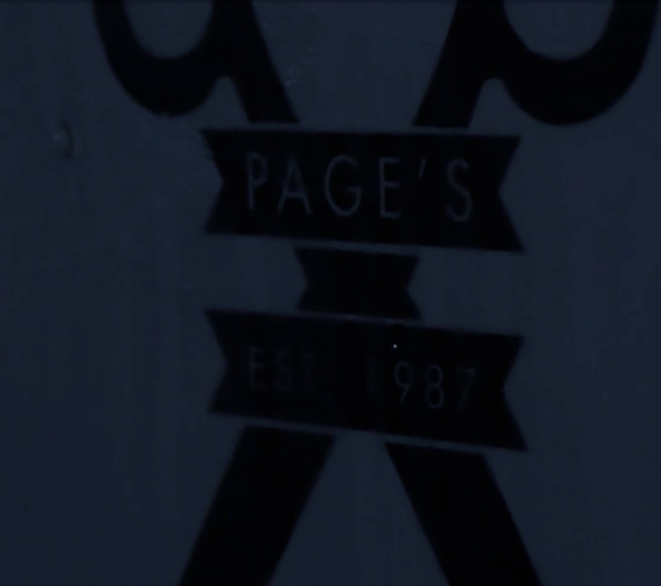 Page's Barber Shop – Advert